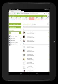 Famicity - L'annuaire en version site mobile sur tablette